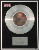 "THE CLASH - 7"" Platinum Disc - ROCK THE CASBAH"